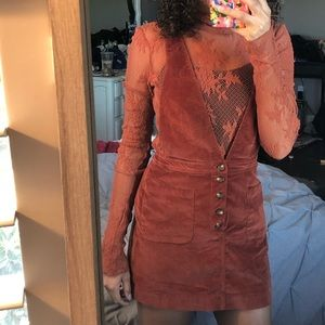 Free people rust fall skirt overalls